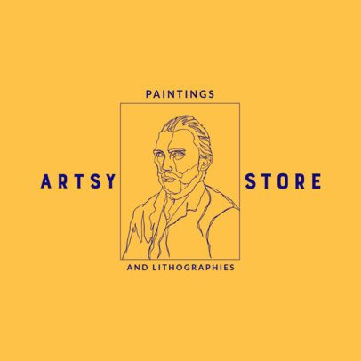 Logo Maker for a Painting Store Featuring an Outline Drawing 3191e