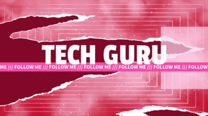 YouTube Banner for a Channel Focused on Digital Life Featuring an Aesthetic Style 2467e