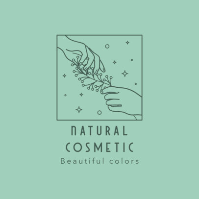Logo Creator for a Beauty Brand with a Line-Drawn Illustration 3193d