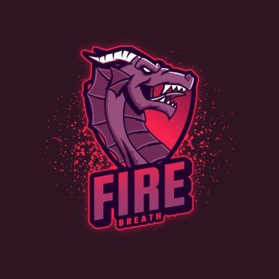 Gaming Logo Maker Featuring an Imposing Dragon Graphic 3184g