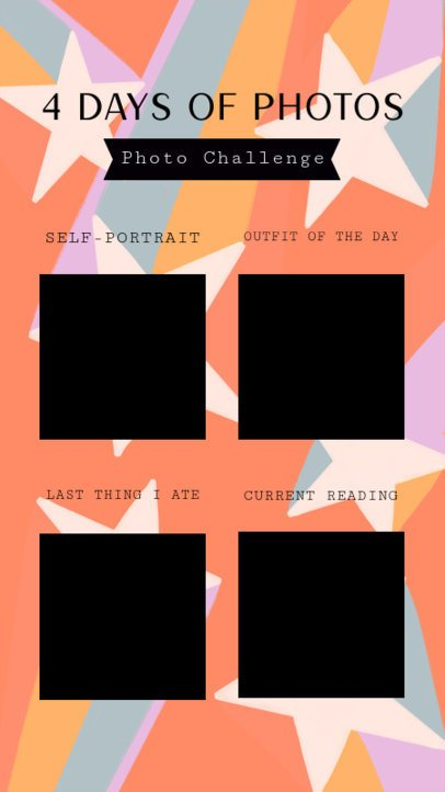Instagram Story Template Featuring a Bingo Photo Challenge 2478a