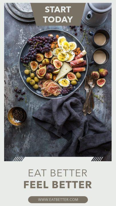 Instagram Story Maker Encouraging to Eat Healthier 1133c-el1
