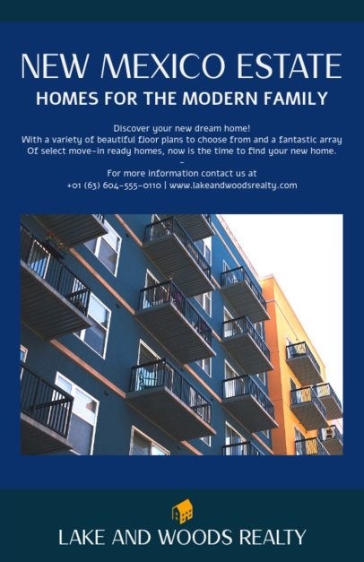 Online Flyer Design Template for Real Estate Promotions 500a