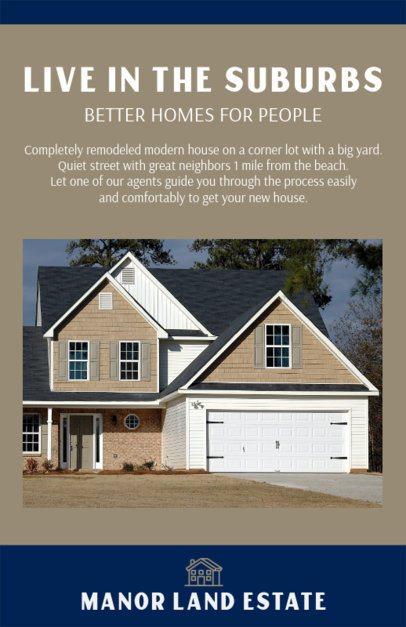Flyer Design Maker for Real Estate Offer in the Suburbs 500d