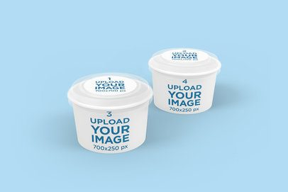 Mockup of Two Food Delivery Cups 4006-el1