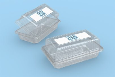 Mockup of Two Food Boxes Placed Against a Plain Color Backdrop 4025-el1