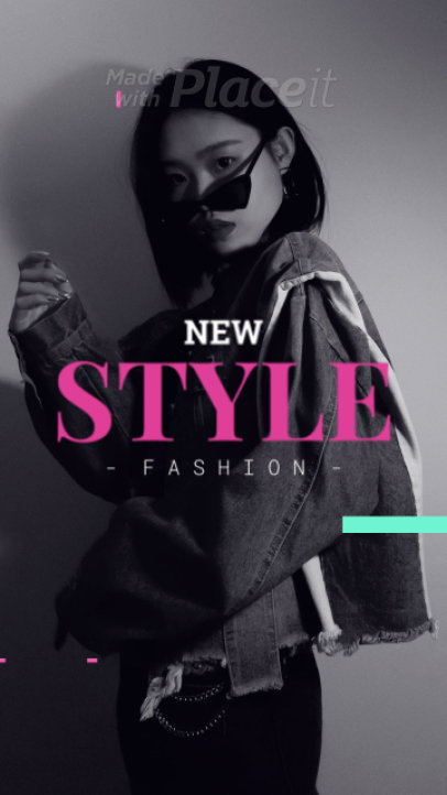 Instagram Story Video Maker for a Fashion Brand with Rapid Animations 281-el1