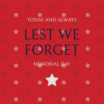 Memorial Day Facebook Post Template with a Starry Design 2486c