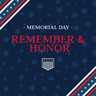 Patriotic Facebook Post Design Generator for Memorial Day Featuring a Starry Background 2486f