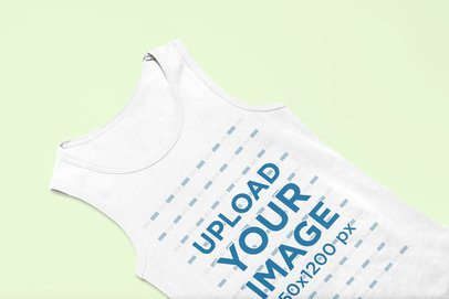 Mockup of a Kids' Tank Top Lying in an Angled Position 33705