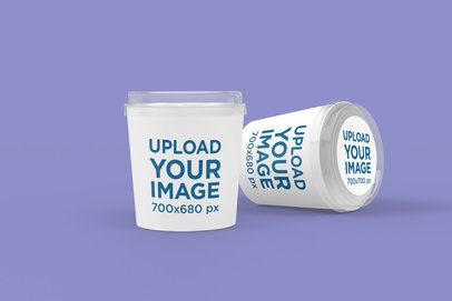 Food Delivery Mockup Featuring Two Large Paper Containers 4010-el1