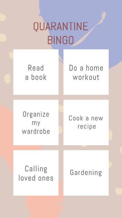 Instagram Story Design Template to Make a Bingo Challenge 2514