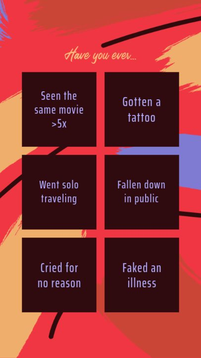 Instagram Story with a DIY Bingo Card  2514b