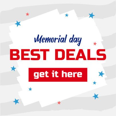 Modern Banner Maker for a Memorial Day Deals Post 2488h