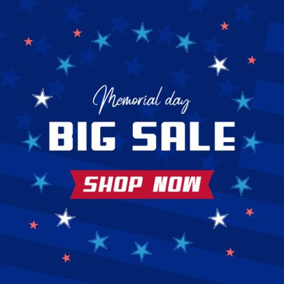 Memorial Day Banner Template for a Big Sale Announcement 2488i