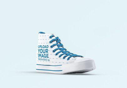 Mockup of a Single Sneaker in a Plain Setting 3267-el1