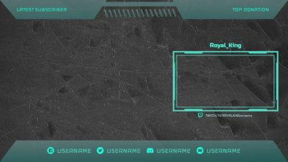 OBS Stream Overlay Template for Twitch with a Modern Style 2513