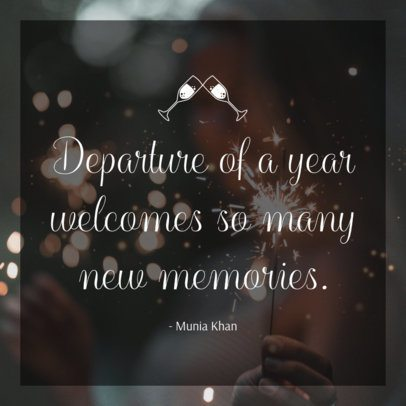 Instagram Post Template Featuring an Inspirational New Year's Quote 280h