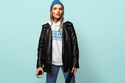Pullover Hoodie Mockup of a Woman with an Urban Style 34130-r-el2