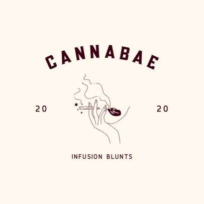 Minimalist Logo Maker For a Cannabis Products Brand 3224