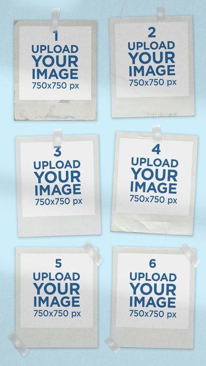 Mood Board Mockup Featuring Six Polaroids 3897-el1