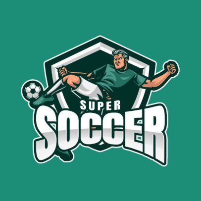 Soccer Team Logo Generator with a Player Kicking a Ball 1298b-el1