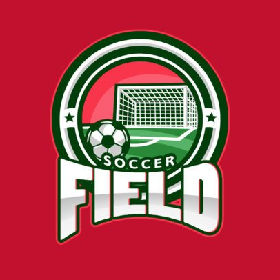 Soccer Logo Creator with a Soccer Field Graphic 1298f-el1