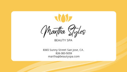 Business Card Maker for Spas 67d