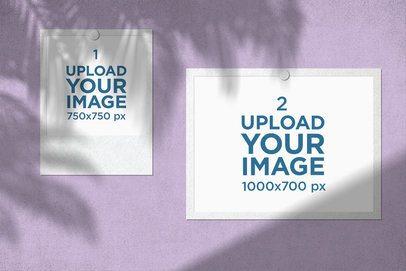 Mood Board Mockup Featuring a Polaroid Frame and a Photo 3884-el1