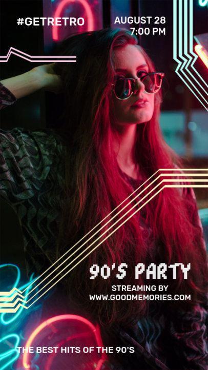 Instagram Story Template for a Retro Party Announcement 1228c-el1
