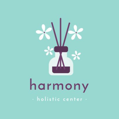 Logo Creator for a Holistic Center with Aroma Diffuser Sticks 1304a-el1