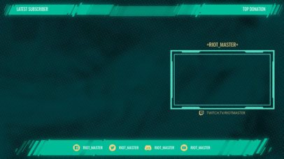 OBS Stream Overlay Maker with Glitchy-Looking Graphics 2513i