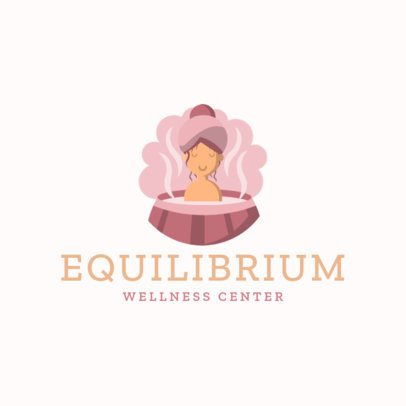 Wellness Brand Logo Maker Featuring a Woman in a Hot Tub 1304e-el1