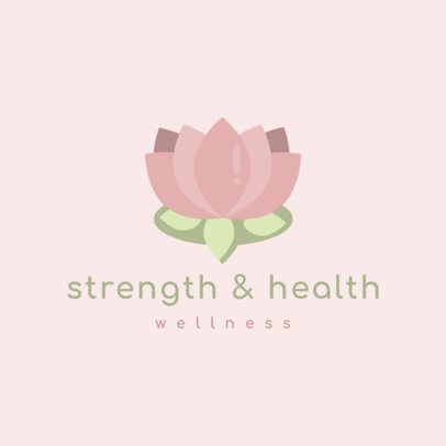 Wellness Logo Template Featuring a Lotus Flower 1304f-el1