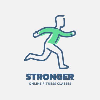 Logo Maker for Online Fitness Classes 1308d-el1
