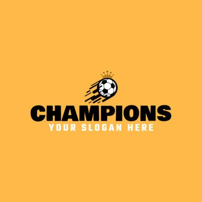 Sports Logo Template for a Soccer League Championship 1297b-el1