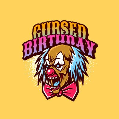 Logo Template with a Cursed Clown Graphic 3233e