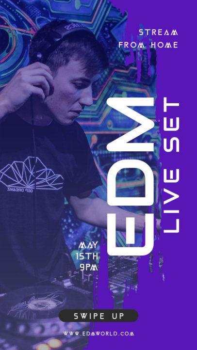 Instagram Story Maker for an Online EDM Concert 1240a-el1