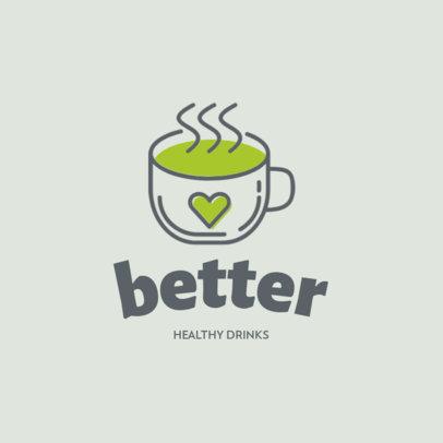 Logo Creator with a Hot Coffee Cup Icon 1309c-el1