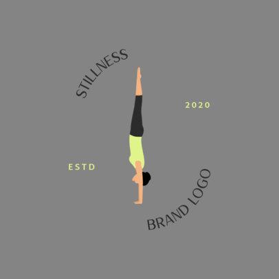 Wellness Brand Logo Maker Featuring a Woman Doing a Handstand 1302e-el1