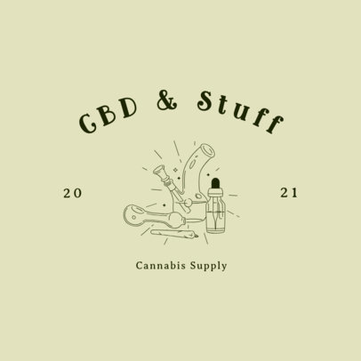 Logo Template Featuring Cannabis Supply Graphics 3224a