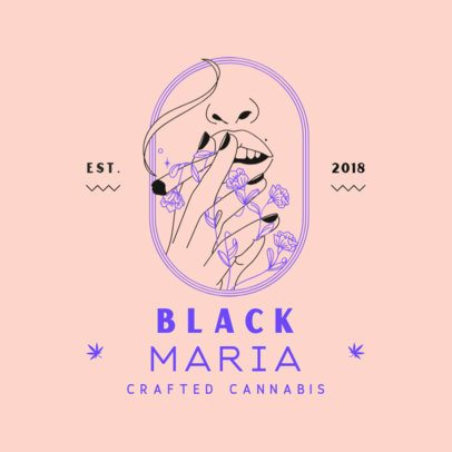 Cannabis Store Logo Generator with a Minimalist Graphic 3134d