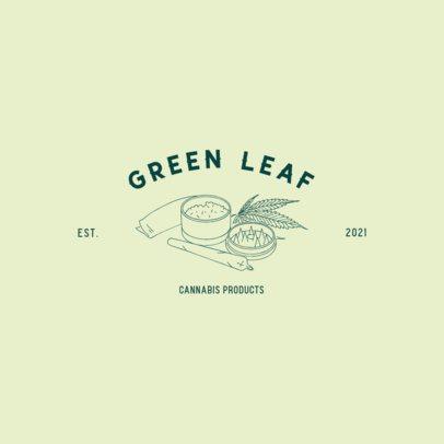 Minimalist Logo Creator Featuring a Cannabis Grinder Graphic 3224c