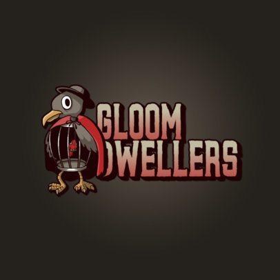 Logo Generator with a Crow Cartoon 3236b