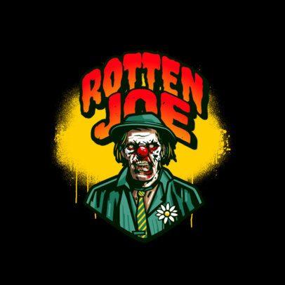 Gaming Logo Maker Featuring a Villain Clown Character 3233h