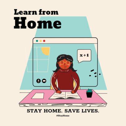 Instagram Post Template to Promote Home Activities 1374-el1