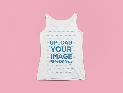 Tank Top Mockup Featuring a Customizable Solid Background 25320