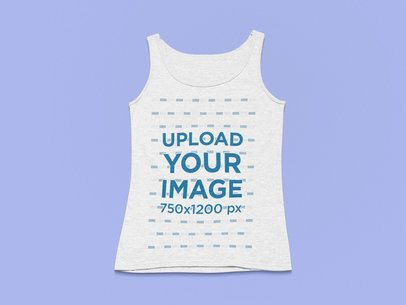 Flat Lay Mockup of a Scoop Neck Tank Top on a Plain Surface 25504