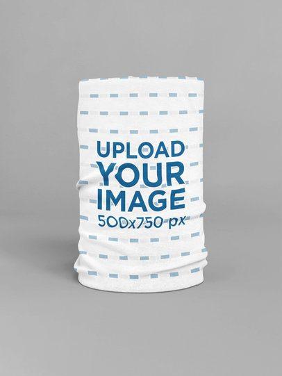 Tubular Bandana Mockup Featuring a Customizable Background 36022