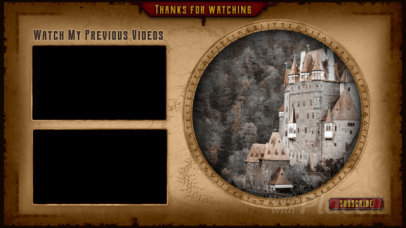 YouTube End Card Video Maker with a Medieval Adventure Look 1499-el1